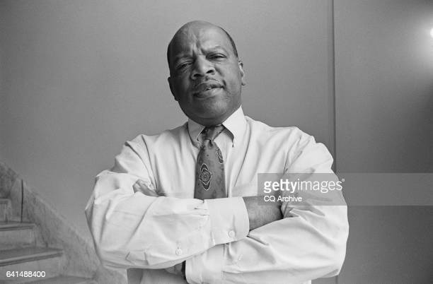 Student Nonviolent Coordinating Committee President John Lewis speaks in front of the Montgomery State Capitol building at the conclusion of the...