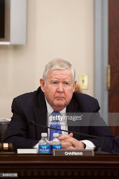 Representative John Murtha a Democrat from Pennsylvania chairs a hearing of the House Appropriations Committee in Washington DC US on Tuesday March...