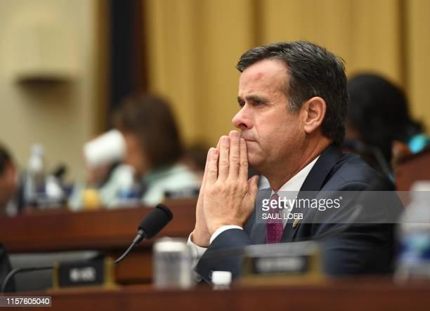 Representative John Ratcliffe, Republican of Texas, listens as former Special Counsel Robert Mueller testifies in Washington, DC, on July 24, 2019.