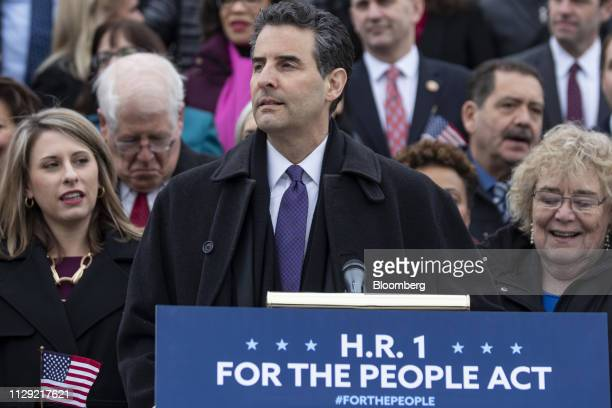Representative John Sarbanes a Democrat from Maryland speaks during a news conference in Washington DC US on Friday March 8 2019 House Democrats are...