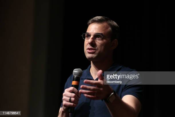 Representative Justin Amash a Republican from Michigan answers a question during a town hall event in Grand Rapids Michigan US on Tuesday May 28 2019...