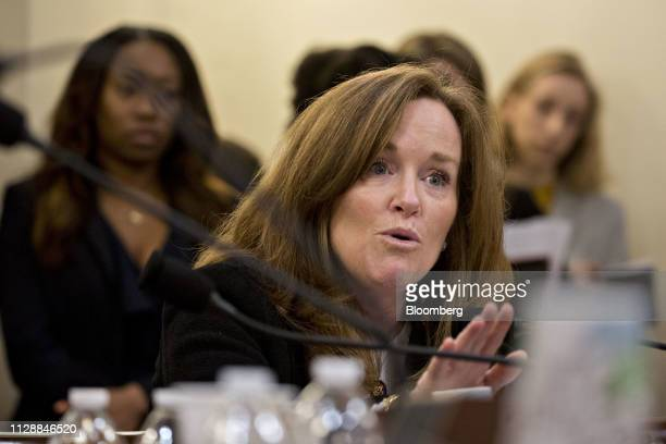 Representative Kathleen Rice a Democrat from New York questions Kirstjen Nielsen US secretary of Homeland Security not pictured during a House...
