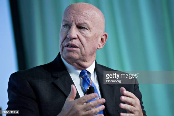 Representative Kevin Brady a Republican from Texas and chairman of the House Ways and Means Committee speaks during an interview at the Securities...