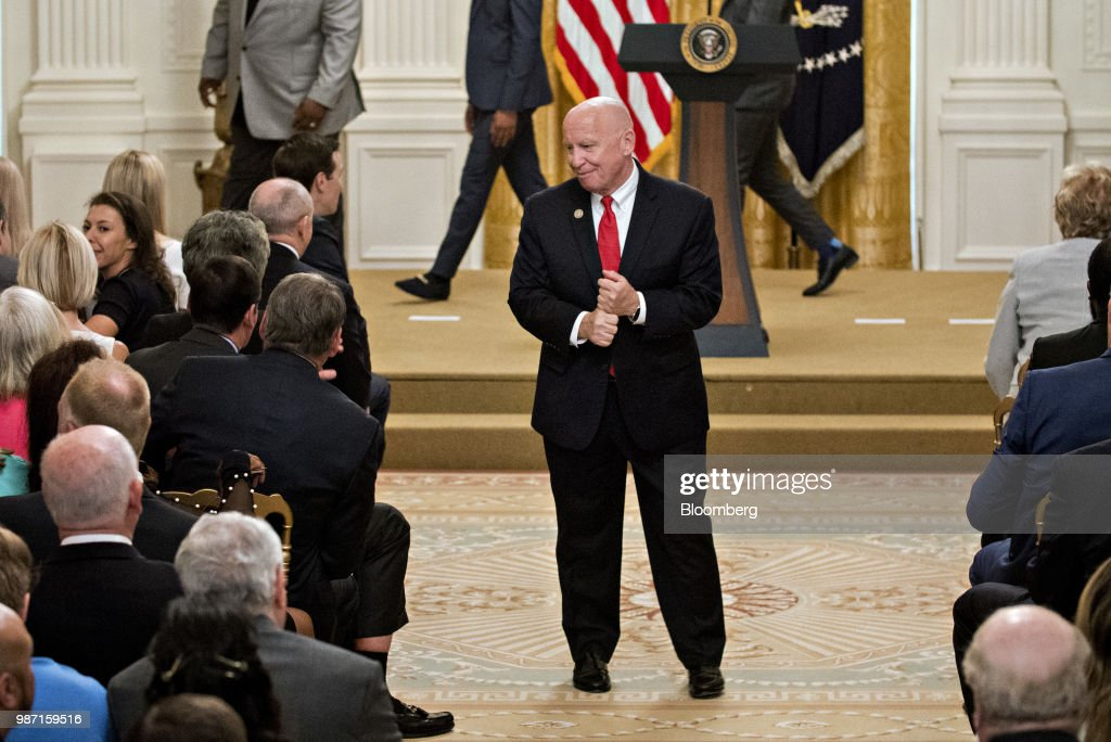 President Trump Celebrates Six Months Of The Tax Cuts And Jobs Act : News Photo