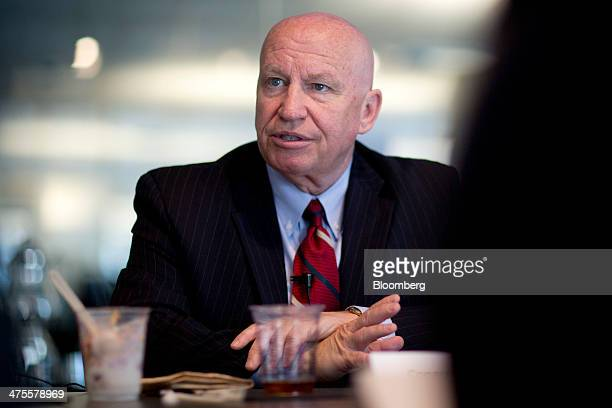 Representative Kevin Brady a Republican from Texas speaks during an interview in Washington DC US on Friday Feb 28 2014 A Republican plan to revise...