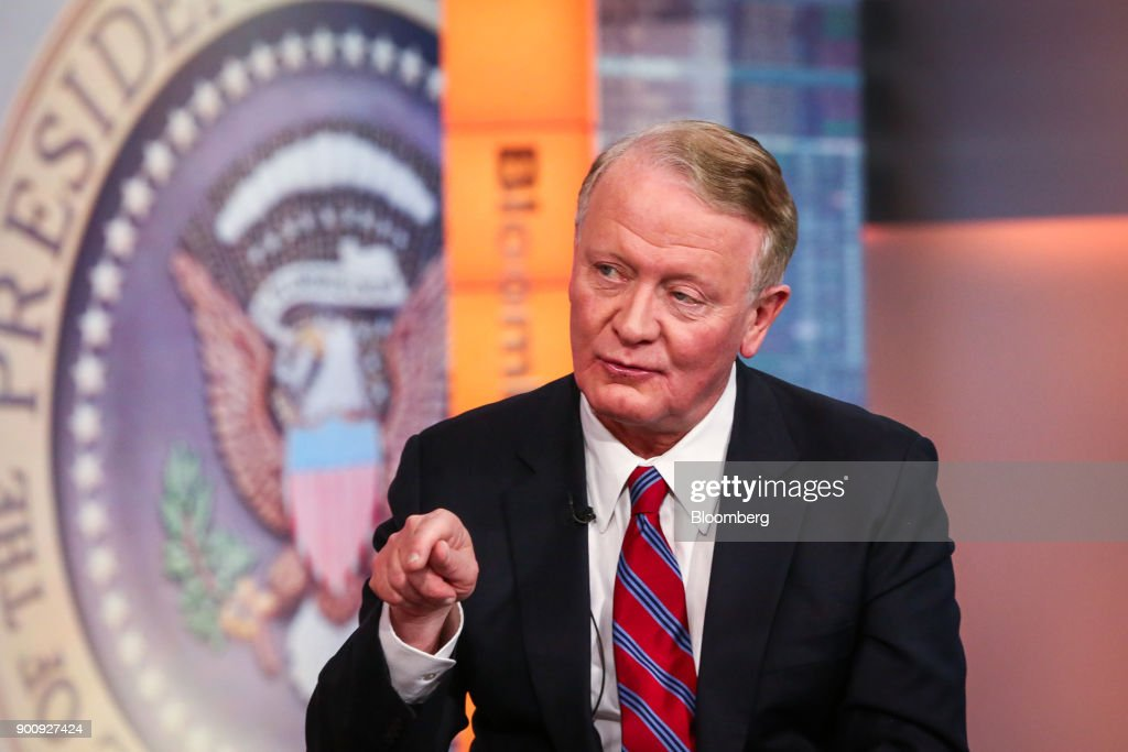 Representative Leonard Lance, a Republican from New Jersey, speaks during a Bloomberg Television interview in New York, U.S., on Wednesday, Jan. 3, 2018. Lance discussed his plan to introduce legislation that would allow taxpayers to deduct all of their prepaid 2018 state and local property taxes from their 2017 returns. Photographer: Christopher Goodney/Bloomberg via Getty Images