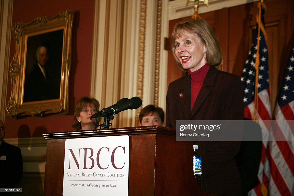 Representative Lois Capps (D-CA) speaks at the National Breast Cancer Coalition press conference at The Capitol on March 28, 2007 in Washington, DC.