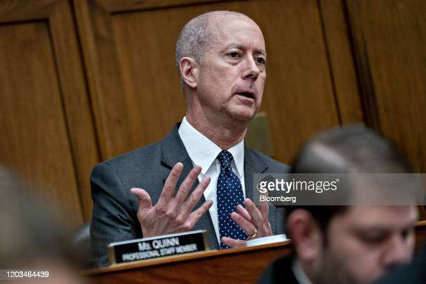 Representative Mac Thornberry, a Republican from Texas and ranking member of the House Armed Services Committee, questions witnesses during a hearing...