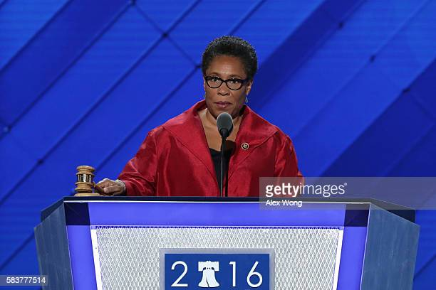 S Representative Marcia Fudge calls to order the third day of the Democratic National Convention at the Wells Fargo Center July 27 2016 in...