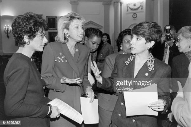 Representative Marjorie Margolies Mezvinsky with other bipartisan freshmen women including Representative Anna Eshoo Lynn Schenk Marjorie Margolies...