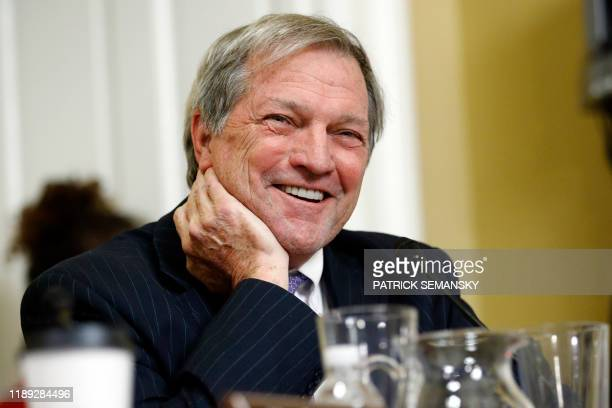 Representative Mark DeSaulnier DCalf smiles as he speaks during a House Rules Committee hearing on the impeachment against President Donald Trump...