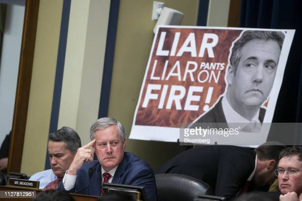 Representative Mark Meadows, a Republican from North Carolina, listens during a hearing with Michael Cohen, former personal lawyer to U.S. President...