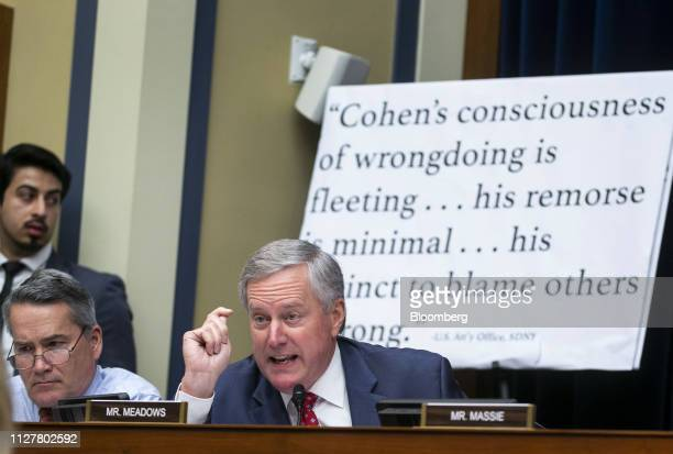 Representative Mark Meadows, a Republican from North Carolina, speaks during a hearing with Michael Cohen, former personal lawyer to U.S. President...