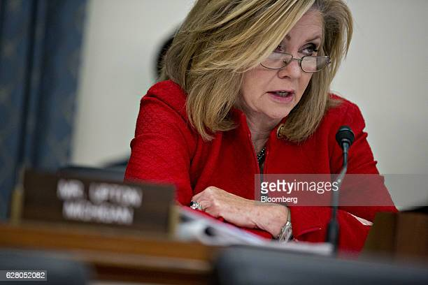 Representative Marsha Blackburn a Republican from Tennessee questions witnesses during a House Energy and Commerce Subcommittee hearing on Volkswagen...