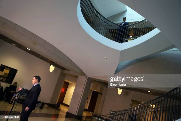 Representative Matt Gaetz a Republican from Florida speaks to members of the media at the US Capitol in Washington DC US on Friday Feb 2 2018 FBI and...