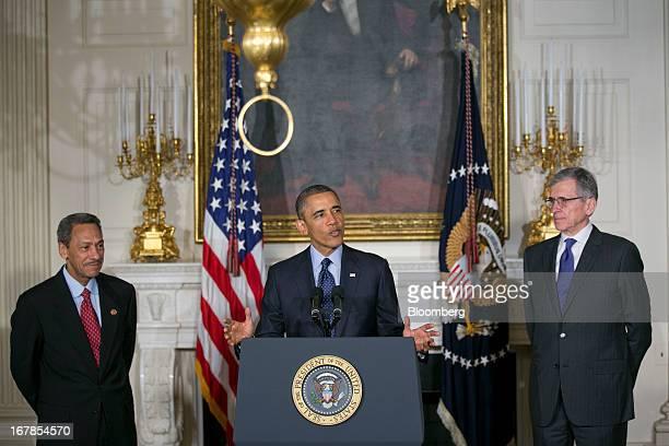 Representative Mel Watt, a Democrat from North Carolina and U.S. President Barack Obama's nominee as director of the Federal Housing Finance Agency ,...
