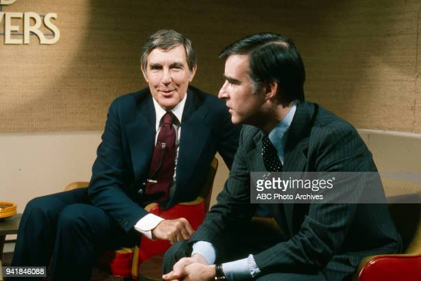 Representative Morris Udall Governor of California Jerry Brown on Walt Disney Television via Getty Images's 'Issues and Answers' program
