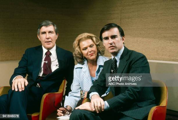 Representative Morris Udall Margaret 'Peggy' Whedon Governor of California Jerry Brown on Walt Disney Television via Getty Images's 'Issues and...