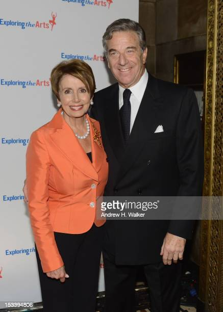 Representative Nancy Pelosi and Paul Pelosi attend the 6Th Annual Exploring the Arts Gala hosted by Tony Bennett and Susan Benedetto at Cipriani 42nd...