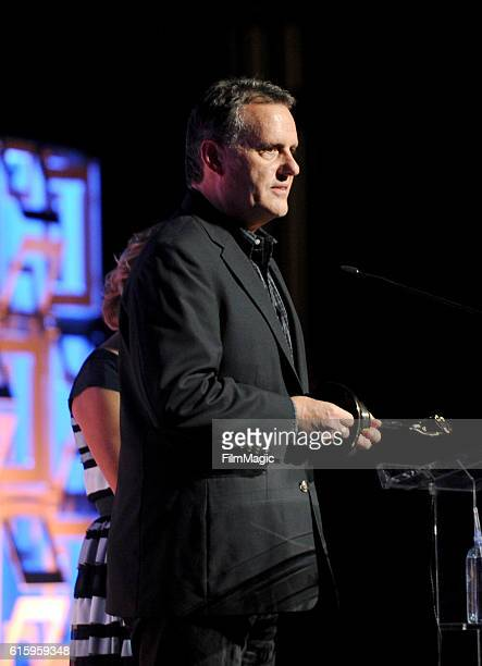 A representative of FX Networks accepts the Television Teaser Grand award for 'Man Seeking Woman' onstage during the CLIO Key Art Awards 2016 at...