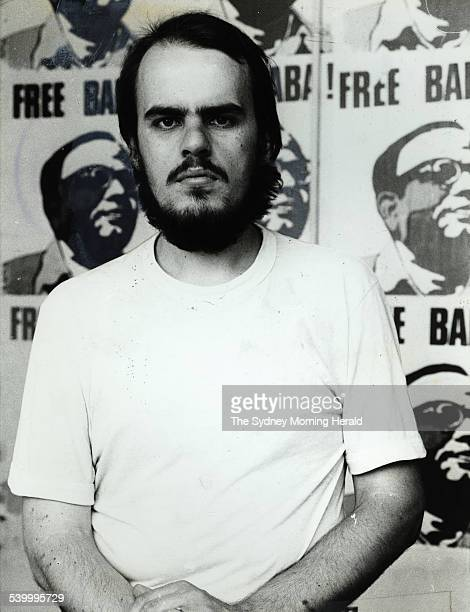 Representative of the Ananda Marga Tim Anderson in their Newtown office on 17 January 1978 the same year of the Hilton Bombing for which he would be...