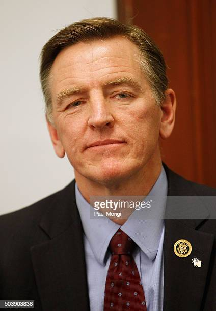 Representative Paul Gosar attends a news conference to discuss legislation to revoke comedian Bill CosbyÕs Presidental Medal Of Freedom at the Cannon...