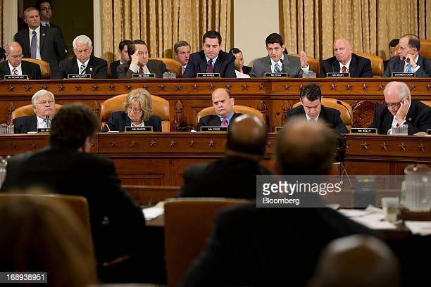 Representative Paul Ryan a Republican from Wisconsin top third from right questions Steven Miller who was forced out as acting commissioner of the...