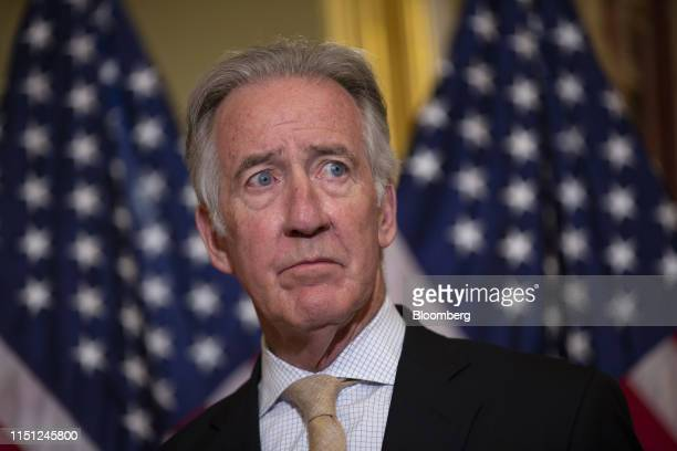 Representative Richard Neal, a Democrat from Massachusetts and chairman of the House Ways and Means Committee, listens during a bill enrollment...