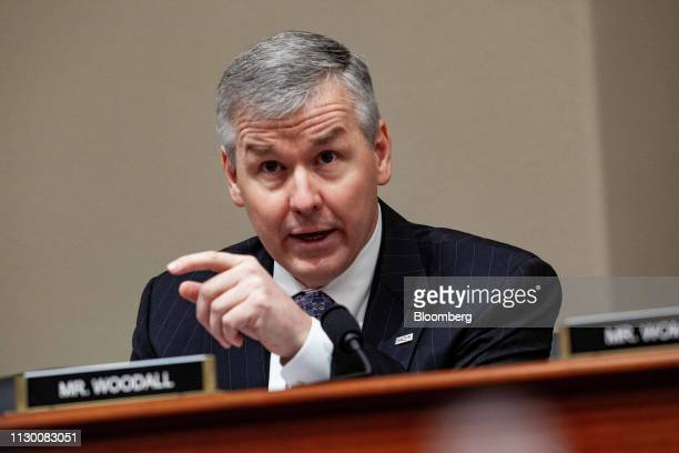 Representative Rob Woodall a Republican from Georgia speaks during a House Budget Committee hearing with Russell Vought acting director of the Office...
