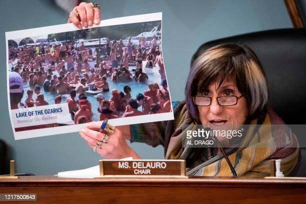 Representative Rosa DeLauro a Democrat from Connecticut and chairwoman of the House Appropriations Subcommittee on Labor Health and Human Services...