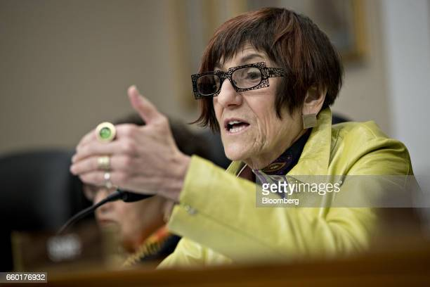 Representative Rosa DeLauro a Democrat from Connecticut and ranking member of the House Appropriations Subcommittee on Labor Health and Human...
