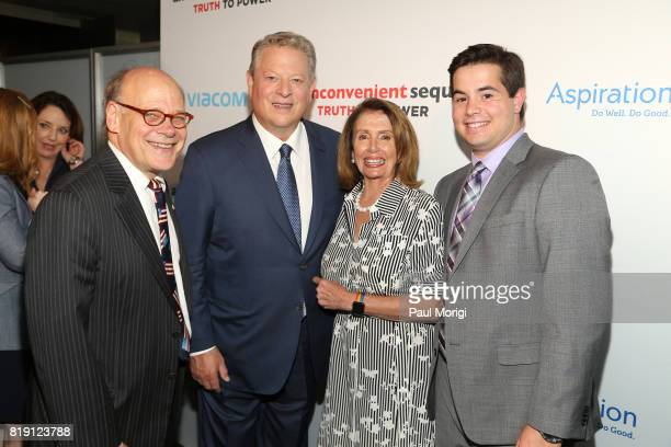 US Representative Steve Cohen Former Vice President Al Gore Minority Leader of the United States House of Representatives Nancy Pelosi and guest...