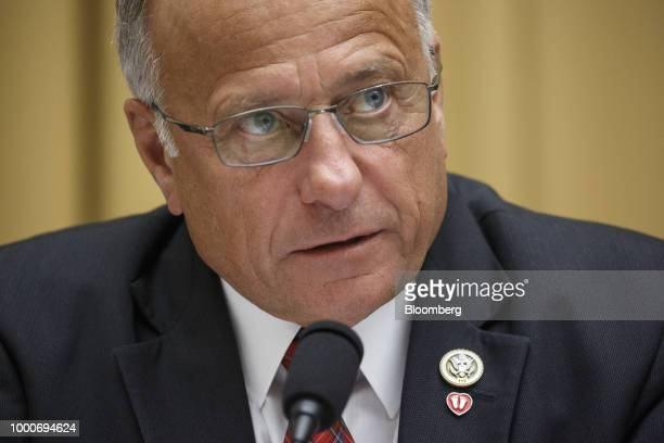 Representative Steve King a Republican from Iowa speaks during a House Judiciary Committee on social media filtering practices in Washington DC US on...