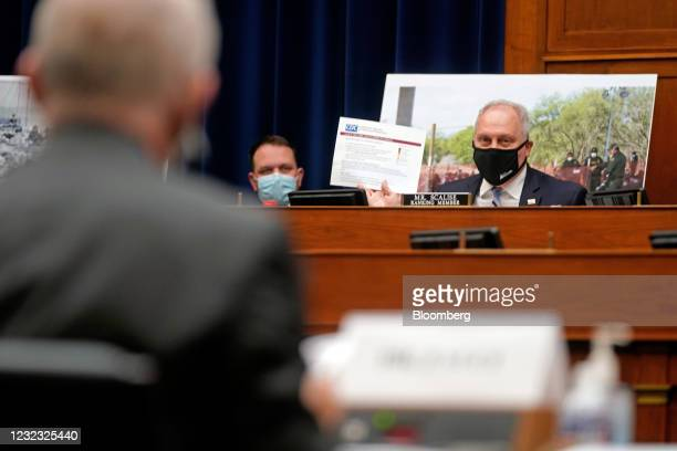 Representative Steve Scalise, Republican of Louisiana, speaks a Select Subcommittee On Coronavirus Crisis hearing in Washington, D.C., U.S., on...