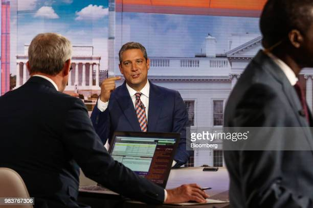 Representative Tim Ryan a Democrat from Ohio speaks during a Bloomberg Television interview in New York US on Monday June 25 2018 Ryan discussed his...