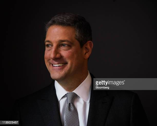 Representative Tim Ryan a Democrat from Ohio stands for a photograph following a Bloomberg Television interview in New York US on Friday April 5 2019...