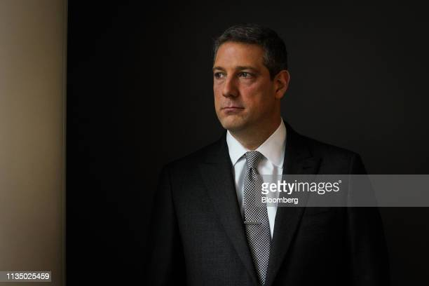 Representative Tim Ryan, a Democrat from Ohio, stands for a photograph following a Bloomberg Television interview in New York, U.S., on Friday, April...