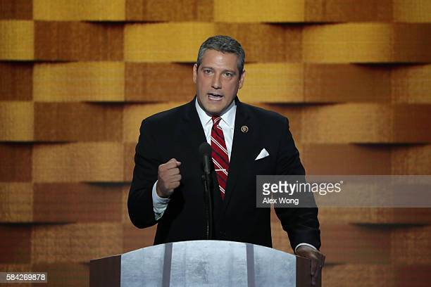 S Representative Tim Ryan delivers remarks on the fourth day of the Democratic National Convention at the Wells Fargo Center July 28 2016 in...
