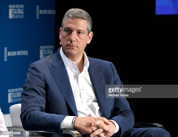 Representative Tim Ryan participates in a panel discussion during the annual Milken Institute Global Conference at The Beverly Hilton Hotel on April...