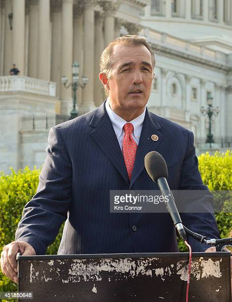 Representative Trent Franks speaks during a press conference to Raise Awareness For Cleft Palate And Lip Treatment at US Capitol House Triangle on...