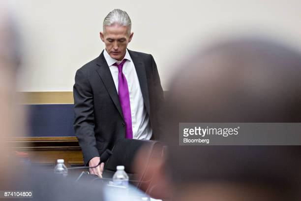 Representative Trey Gowdy a Republican from South Carolina arrives to a House Judiciary Committee hearing with Jeff Sessions US attorney general not...