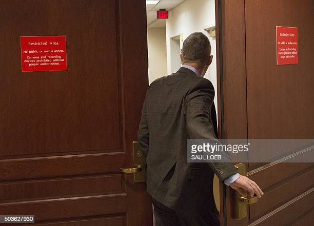 Representative Trey Gowdy, Republican of South Carolina and Chairman of the House Select Committee on Benghazi, enters a secure area prior to...