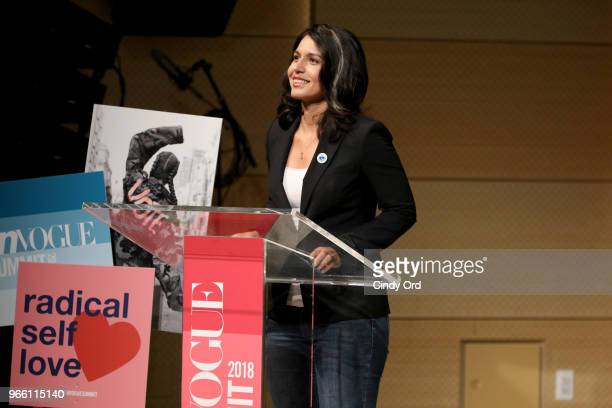 Representative Tulsi Gabbard speaks onstage during Teen Vogue Summit 2018 #TurnUp Day 2 at The New School on June 2 2018 in New York City