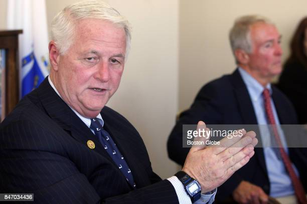 Representative William Delahunt defends his actions when he was Norfolk DA in the handling of the 1986 Amy Bishop killing investigation at a news...