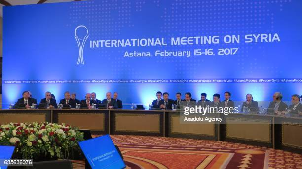 Representatives and delegation take part in the third session of Syria peace talks in Astana Kazakhstan on February 16 2017