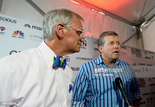 S Representatives Earl Blumenauer and Charlie Dent attend VIP Lounge at the 2014 Global Citizen Festival to end extreme poverty by 2030 in Central...