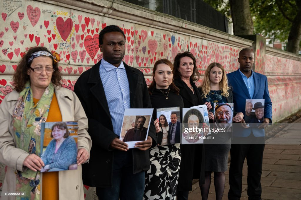 Boris Johnson Hosts Covid-19 Bereaved Families For Justice At Private Reception : News Photo