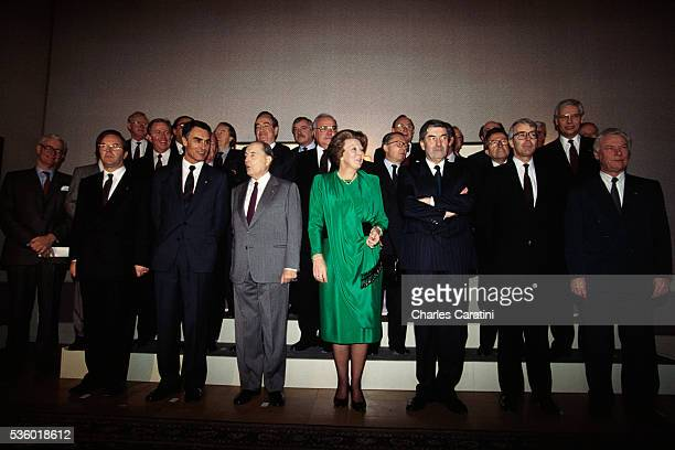 Representatives from European countries attending the European Summit of Maastricht include Helmut Kohl and HansDietrich Genscher of Germany Norman...
