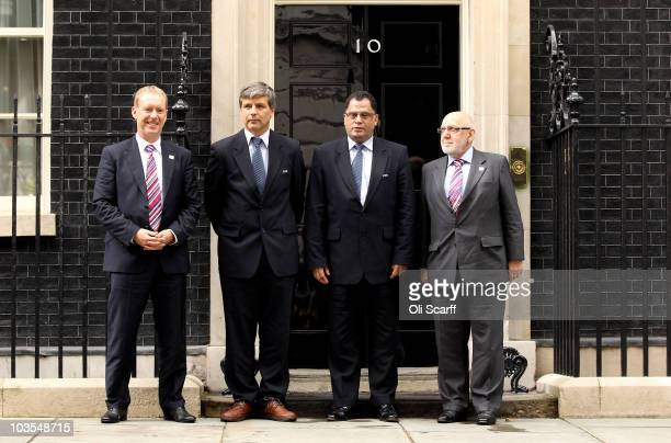Representatives from FIFA and England's 2018 World Cup bid team including England bid Chief Executive Andy Anson chairman of the Chilean FA Harold...