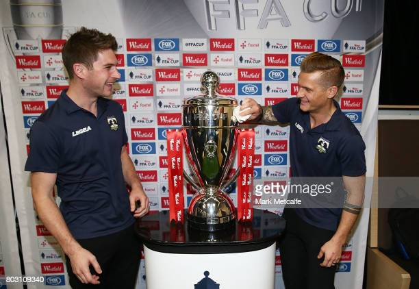 Representatives from Hills United FC attend the FFA Cup Round of 32 Official Draw on June 29 2017 in Sydney Australia